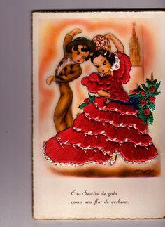 Spanish Dancers card | eBay