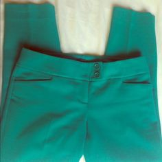 Limited teal skinny cropped dress pant Worn only a few times The Limited Pants Ankle & Cropped