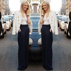 #stealthelook #look #looks #streetstyle #streetchic #moda #fashion #style #estilo #inspiration #inspired #cintura #alta #social #blazer #pantalona