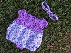*Free Crochet Pattern:  Newborn Romper Baby Set - Craft Passions