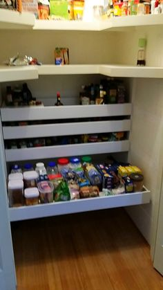 Wide Pantry Inner Drawers supplied and installed by Easy Access Kitchens Perth are great for wheelchair access.