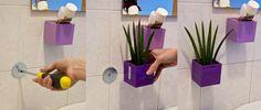 Magnetické květináče můžete pomocí magnetického disku připevnit na zeď (třeba i do koupelny) #kalamitica