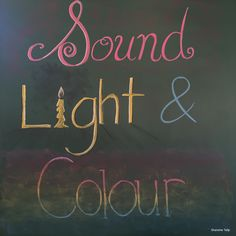 Physics: Sound, Light and Colour Main Lesson Chalkboard Drawing ~ 6th Grade ~ Waldorf/Steiner Education