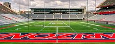 New University of Arizona end zone and Lowell-Stevens Football Facility.  New stadium club, weight rooms, locker rooms and treatment facilities.