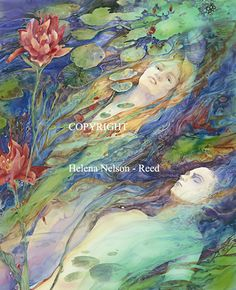 ARTISTS STATEMENT Helena Nelson-Reed is an American artist specializing in fine art watercolor painting, pencil drawings, fine art illustration, private/commercial commissions, and portraits. Sirens, Eslava, Grafik Art, Ile Saint Louis, Collages, Magick Spells, Beautiful Fantasy Art, Visionary Art, American Artists