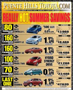 Ad for New Toyotas for July 20th Weekend - Puente Hills Toyota & Scion