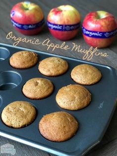 These are so good! Organic Apple Muffins that are simple to make & taste great! #TeeterRecipes #HTOrganics #ad @harristeeter via @BeckyMans