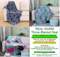 Real Deal:  THREE Blanket Offer
