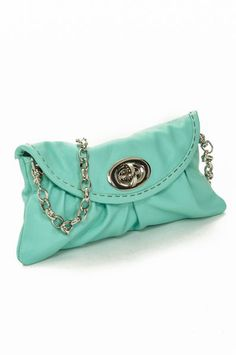 Turquoise Mini Bag with Chain Uncovet