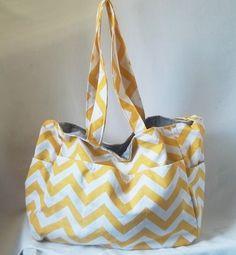 Winter+Sale++Chevron+diaper+bag++Corn+Yellow+zig+zag+by+ACAmour,+$47.85