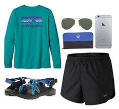 """""""Untitled #71"""" by valerienwashington on Polyvore featuring NIKE, Patagonia, Tory Burch, Chaco and Ray-Ban"""