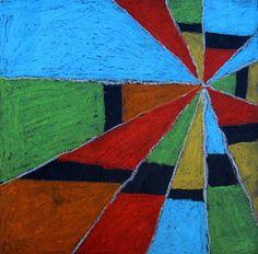 Futurists Artists - Joseph Stella  Diagonals