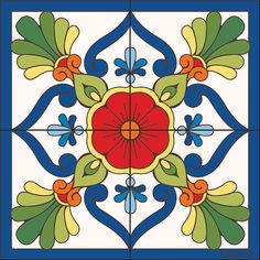 Tile Mural Traditional Talavera Mural Traditional Talavera decorative art tile is hand painted and hard fired at over 1800 degrees making it ready for use indoors or outdoors Tile Murals, Tile Art, Tile Painting, Talavera Pottery, Mexican Art, Mexican Tiles, Decorative Tile, Traditional Decor, Tile Patterns