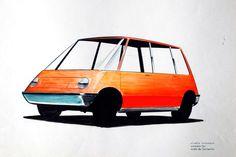 OG | 1965 NSU Autonova Fam | Scale mock-up designed by Michael Conrad and Pio Panzù
