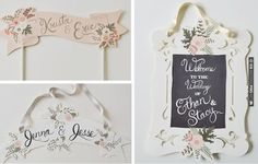 Chalkboard Inspired Signs Without The Chalk | Bridal Musings | CHECK OUT MORE IDEAS AT WEDDINGPINS.NET | #weddings #weddingdecor #weddingdecoration #decor #decoration #events #forweddings