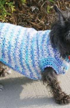 Dog Sweater Free Crochet Pattern from Red Heart Yarns