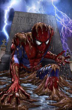 #Spiderman #Fan #Art. (Here lies Spiderman) By: Lee & Greg Horn. (THE * 5 * STÅR * ÅWARD * OF: * AW YEAH, IT'S MAJOR ÅWESOMENESS!!!™) ÅÅÅ+