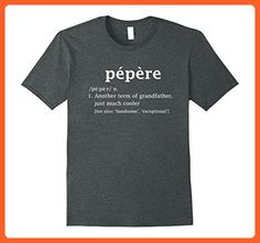 Mens Pepere Definition Funny Gift For French Grandfather T Shirt Large Dark Heather - Funny shirts (*Partner-Link)