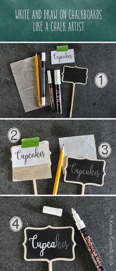 how to write on a chalkboard like a chalk artist   Lorrie Everitt Studio