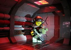 Lego Aliens moment in honor of H. Lego Decorations, Lego Tv, Lego City Police, Lego Army, Lego Builder, Geek Gadgets, Lego Photography, Boys Wallpaper, Lego Models