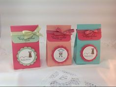 Quick & Easy Easter Treat Bag.                Visit stampingwithamore.com for more Stampin'Up ideas!