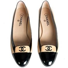 I love these stylish Chanel Cap Toe Ballerinas