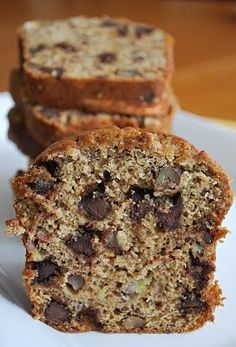 Chocolate Chip Banana Bread    by thecapitolbaker #Bread #Banana #Chocolate_Chip