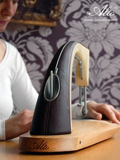 Gorgeous sewing machineNo foot pedal! You push on the base instead. Great design!  Alto Sewing Machine by Sarah Dickins