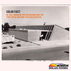 Did you know? In 1955, the Bridgers-Paxton Building was the 1st #office #building to be heated by #SolarPower. #fact