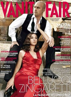 Vanity Fair Italia 10th Anniversary- Best Covers - Monica Bellucci and Luca Zingaretti on Vanity Fair Italia Cover for issue 20 of 2008 by Simon Hawk