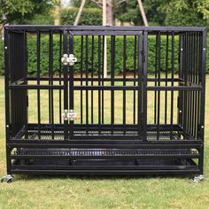 Walcut New Heavy Duty Strong Metal Pet Dog Cage Crate Cannel Playpen w/Wheels > Additional info : Dog cages