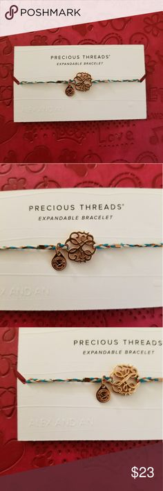 Alex and Ani Precious Threads Bracelet Path of Life/Gold Alex and Ani Jewelry Bracelets