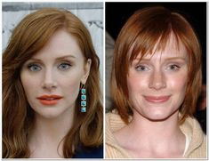 Bryce Dallas Howard Plastic Surgery Before & After Makeup Plastic Surgery Before After, Plastic Surgery Gone Wrong, Celebrities Before And After, Celebrities Then And Now, Nose Reshaping, Makeup Over 50, Divas, Bryce Dallas Howard, Before And After Weightloss