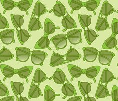 Sunglasses pattern fabric by rgushi on Spoonflower - very cool