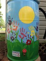 painted rain barrels elementary - Google Search
