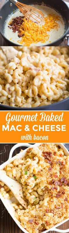 This creamy, cheesy, gourmet baked mac and cheese with bacon will outshine any mac and cheese you've tasted! It is
