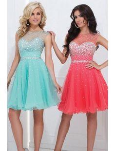Gorgeous una línea de gasa con rebordear corto vestido de fiesta