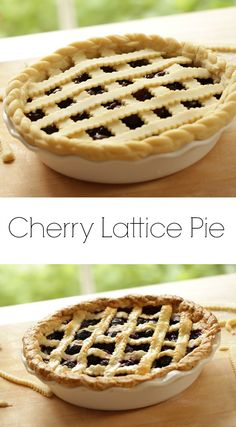 Learn how to make cherry pie that is as beautiful as it is delicious. Perfect for your next family party! Includes a step-by-step video tutorial too! Easy Summer Desserts, Easy Summer Meals, Summer Dessert Recipes, Desserts For A Crowd, Fancy Desserts, Spring Recipes, Easy Pie Recipes, Fruit Recipes, Dog Food Recipes