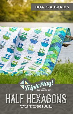 The Doan Girls are back with the latest Triple Play featuring our Half Hexagon template! This simple notion is so handy, they even stitched up a bonus project in addition to three new, unique designs including the Boats and Braids quilt! Follow the link below to watch this incredible Triple Play Tutorial! #MissouriStarQuiltCo #MSQC #Quilting #Quilts #TriplePlay #HexagonQuilt #HalfHexagon #BoatsAndBraidsQuilt #HowToQuilt #Sewing #EasyCraftProjects #FabricCrafts #QuiltPatterns… Missouri Star Quilt Tutorials, Quilting Tutorials, Quilting Projects, Quilting Ideas, Fall Quilts, Boy Quilts, Patchwork Patterns, Quilt Patterns, Braid Quilt