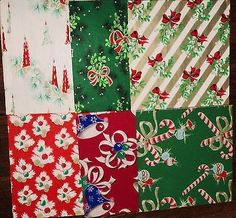 VINTAGE CHRISTMAS WRAPPING PAPER~20 GREAT PIECES! IN ORIGINAL TORE UP BOX!!! (12/01/2013)