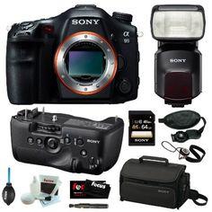 Sony Alpha SLT-A99V Full-Frame 24.3MP SLR Digital Camera with 3-Inch LED Body Only + Sony VGC99AM Vertical Battery... $2,798.00 (save $1,201.99) Sony Slt, Slr Camera, Digital Camera, Fan, Digital Cameras, Fans
