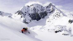 Tout #schuss à Arolla en Suisse , des pentes vertigineuses à descendre d'un trait ;) Ski Freeride, Best Skis, Mount Everest, Skiing, Snow, Mountains, World, Travel, Switzerland
