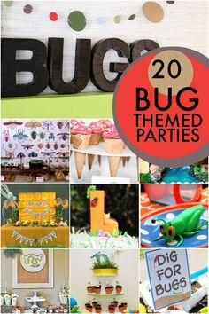 Bug Themed Birthday Party Ideas www.spaceshipsandlaserbeams.com