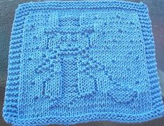 Ravelry: Knitting Snowman Knit Dishcloth pattern by Lisa Millan Knitting Squares, Beginner Knitting Patterns, Dishcloth Knitting Patterns, Crochet Dishcloths, Knit Or Crochet, Loom Knitting, Knitting Stitches, Knit Patterns, Knitting Projects