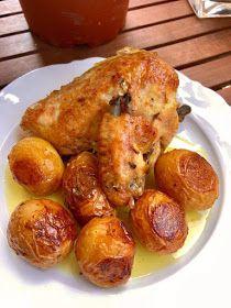 ΜΑΓΕΙΡΙΚΗ ΚΑΙ ΣΥΝΤΑΓΕΣ 2: Κοτόπουλο στον φούρνο με πατάτες !!! Cookbook Recipes, Cooking Recipes, Greek Recipes, Pretzel Bites, Food Dishes, Food And Drink, Potatoes, Bread, Traditional