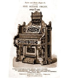 Taylor & Farley - 1M Five Octave Organ. Style C Case