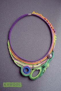 Charming #freeform #crochet #necklace.