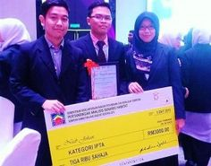 "Team UTM – C (Muhammed Haire Idzahar, Mohamad Firdaus Maarof and Ellida Samsudin) won the Second prize in the final competition ""Analysis of Habitat Scenario 2015"""