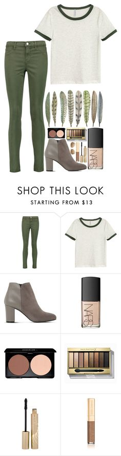 """Green feathers"" by jyellow-11 ❤ liked on Polyvore featuring J Brand, H&M, Dune, NARS Cosmetics, Max Factor, Stila, Dolce&Gabbana and Ray-Ban"