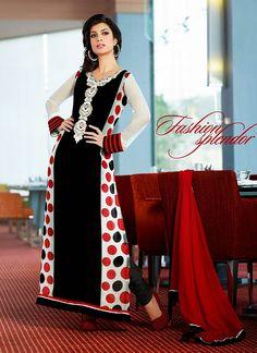 Beautiful Polka Dots Long Shirt for Woman